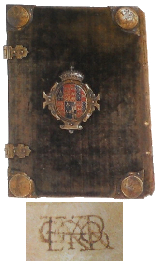 Anne Boleyn's copy of The Ecclesiaste, translated for her by George Boleyn, with detail of his cipher.