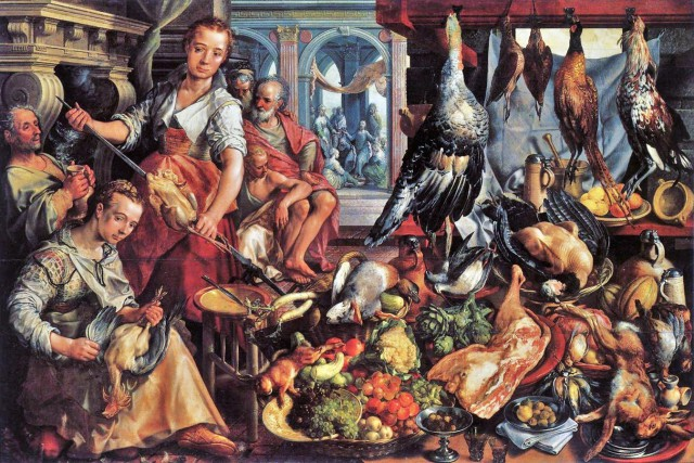 Joachim-Beuckelaer-The-Well-Stocked-Kitchen-