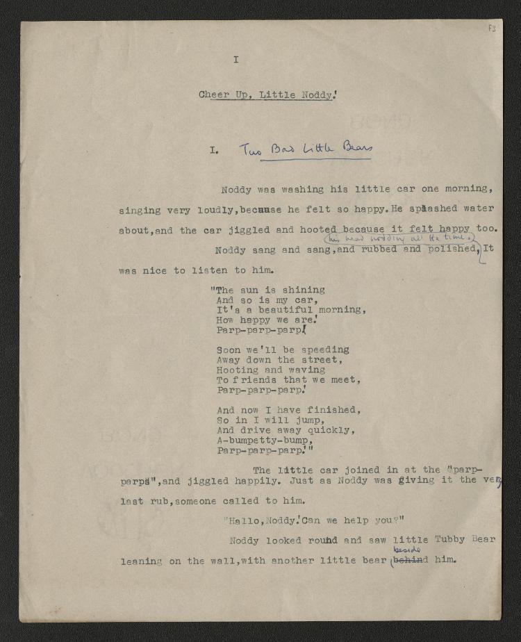 Noddy-Original-Manuscript