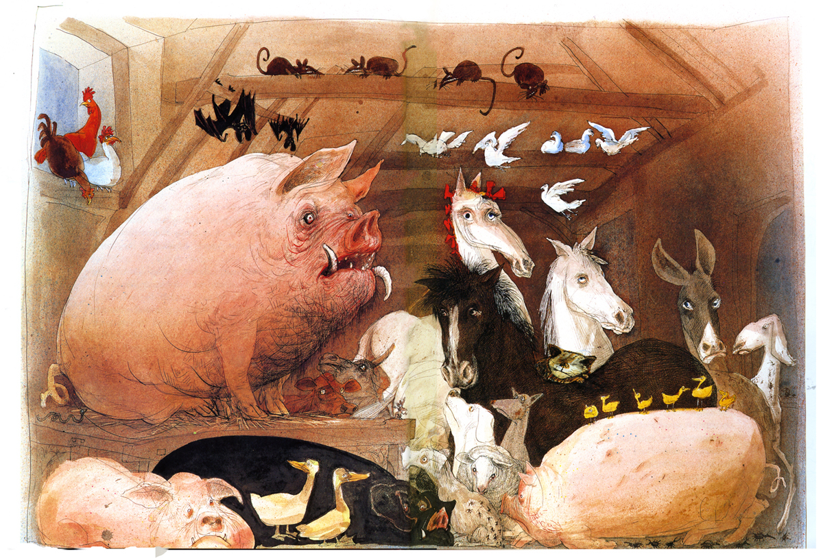 the russian revolution of 1917 through symbolism and allegories in animal farm a novel by george orw