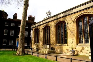 Chapel of St Peter Ad Vincula, Tower of London, where George Boleyn was buried.