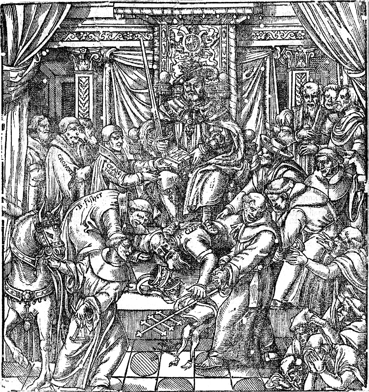 Woodcut from John Foxe's Book of Martyrs depicting Henry VIII © The History Press