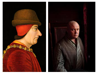 "Both Louis XI and Varys were nicknamed ""the Spider."""