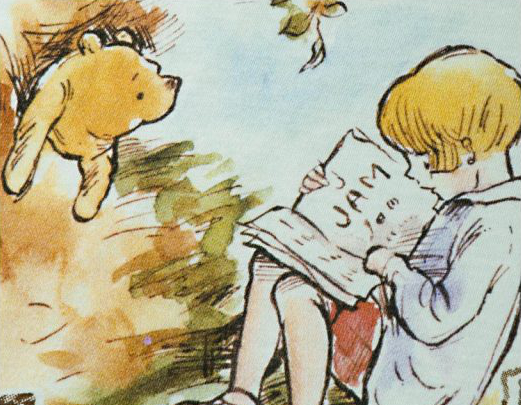 A.A. Milne: The House at Pooh Corner. Chapter 10: In which Christopher Robin and Pooh come to an enchanted place, and we leave them there