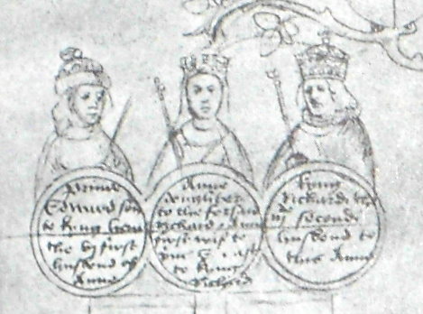 Details from the Beauchamp Pageant - Anne Neville and her husbands © Michael Hicks