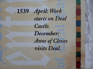 Deal Castle Historical Notes