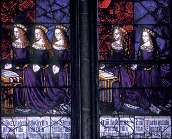 The five daughters of Edward IV and Elizabeth Woodville