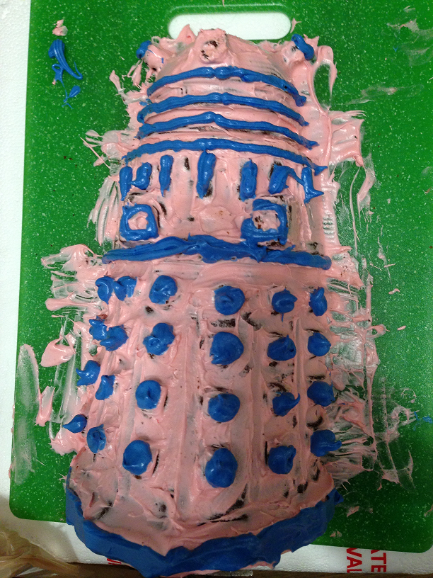 Created by the man who created the Dalek cake. I guess he'd had some practice.