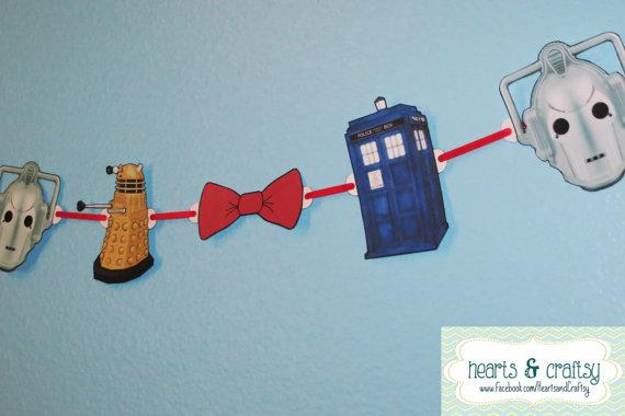 Dr. Who Party Banner – from the Tampa, Florida based company hearts & craftsy.
