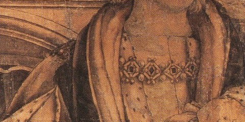 Henry VII - Detail from portrait of Henry VII and Henry VII by Hans Holbein the Younger