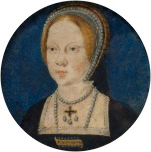 Princess Mary - Miniature by Lucas Horenbout  c 1521-1525