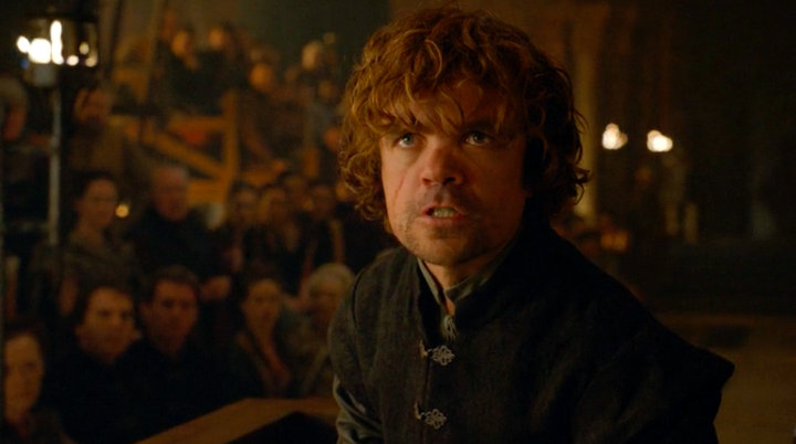 Tyrion Lannister on trial for the murder of Joffrey
