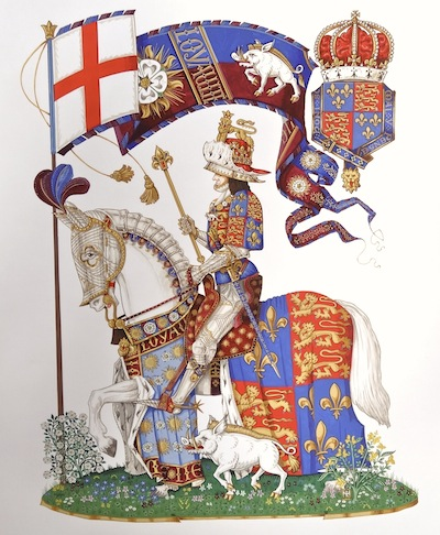 A modern coat of arms by Andrew Jamieson commissioned by the Richard III Society