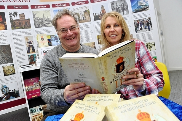 Michael and Philippa with their book - Picture: Leicester Mercury