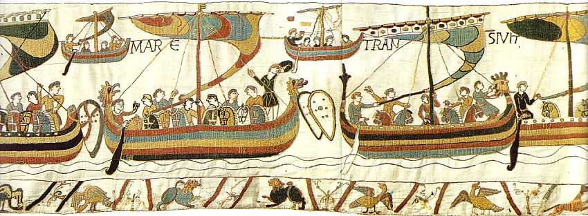 Longships- detail from the Bayeux Tapestry