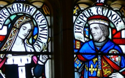 Jasper and his wife Katherine Woodville - Cardiff Castle