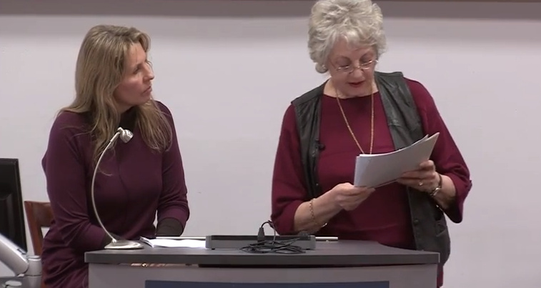 Philippa and Annette giving a talk at  at the Richard III Society Leicester Conference