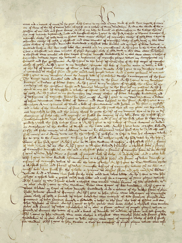 A page from Cecily Neville's will