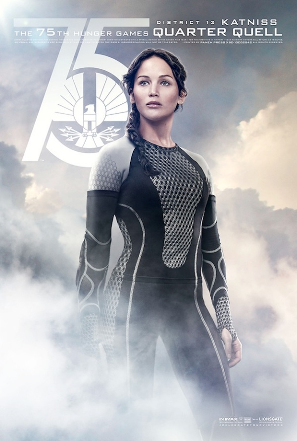 A promotional poster from Catching Fire's Facebook page. The Hunger Games begins at the very end of the seventy-third year; it has been seventy-three years since the rebellion against the Capitol. Joan of Arc was executed seventy-three years after after the French peasant uprising known as the Jacquerie.