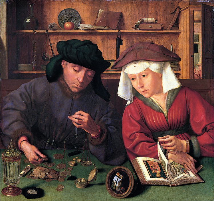 The Moneylender and His Wife, by Quentin Matsys 1456