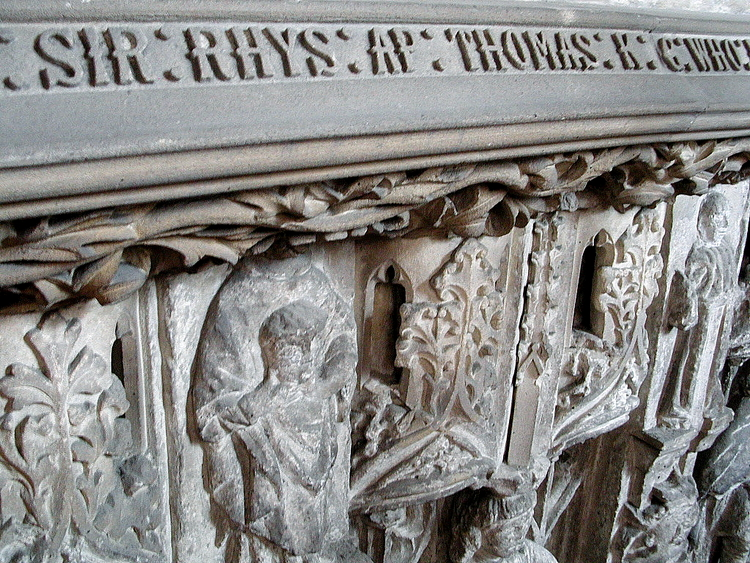 The tomb of Sir Rhys ap Thomas  in St. Peter's Church, Carmarthen