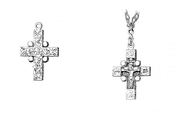 Illustration of the Clare Cross from Archaeological Journal, XXV, 1868