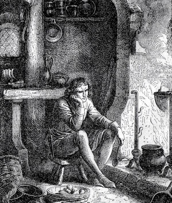 Lambert Simnel in his kitchen ©Geoffrey Wheeler