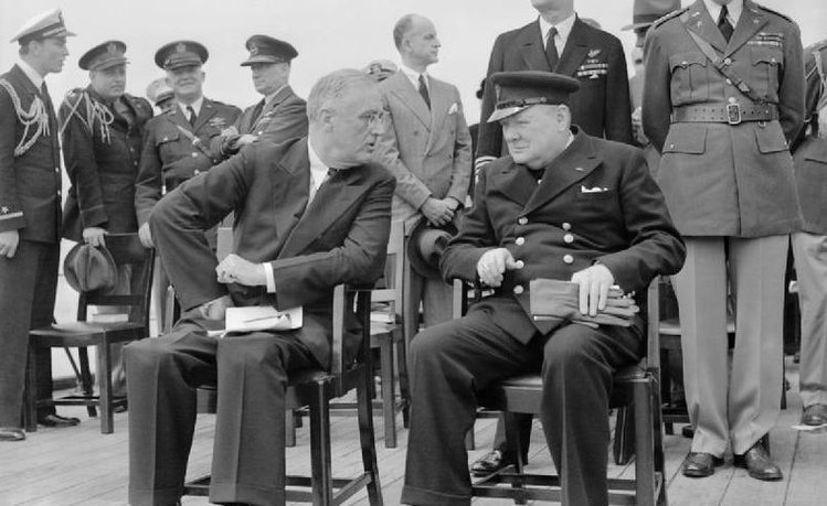 Franklin D Roosevelt and Churchill in 1941