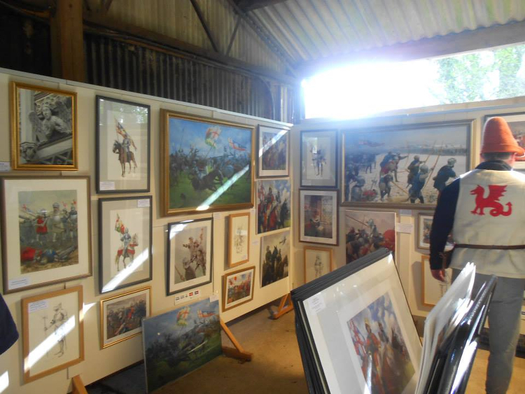 Market stall selling Graham Turner's works