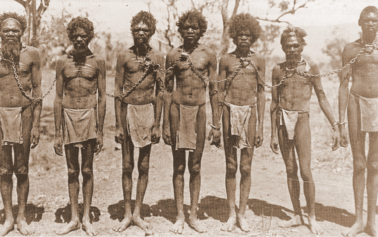 Aboriginals in Police Custody, 1906.