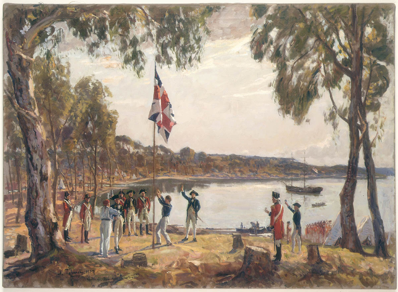 The Founding of Australia. By Capt. Arthur Phillip R.N. Sydney Cove, Jan. 26th 1788, Algernon Talmadge