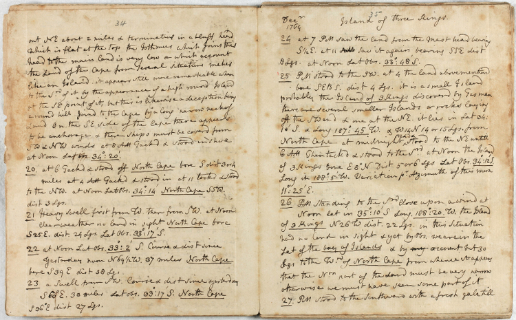 Joseph Banks. Journal, Oct. 1769-Oct. 1770