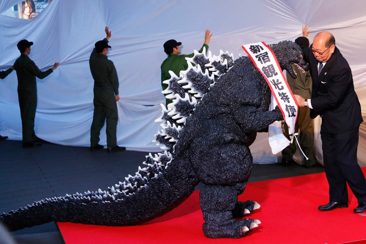 Godzilla was also appointed Shinjuku's tourism ambassador earlier in April