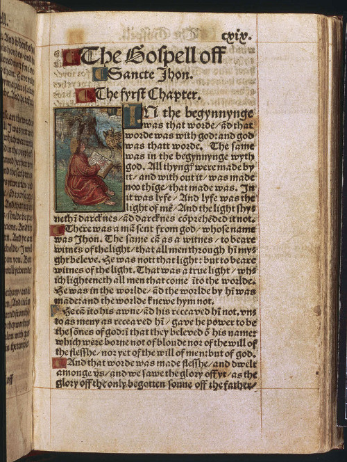 The 1526 edition of William Tyndale's New Testament ©British Library
