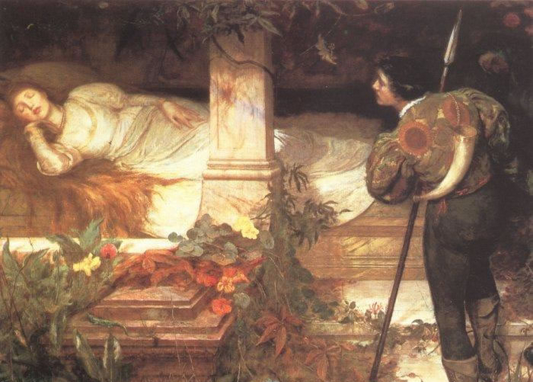 Sleeping Beauty by Edward Frederick Brewtnall