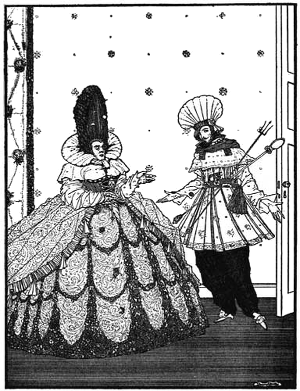 """You will serve her with piquant sauce"" - the Wicked Queen by Harry Clarke"