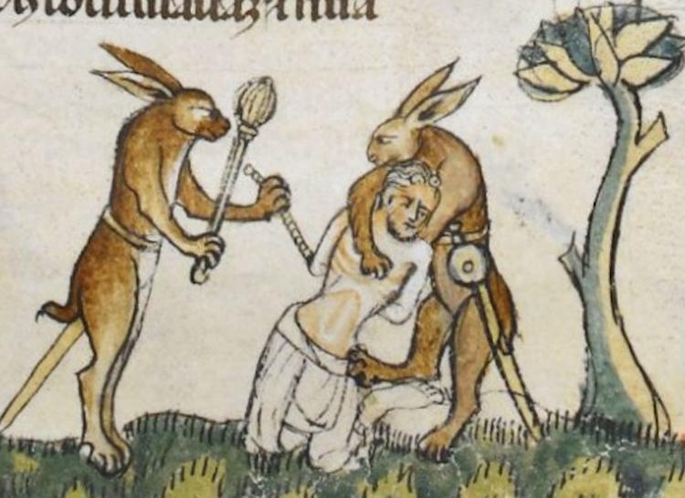 Smithfield-Decretals-Illumination-Rabbits