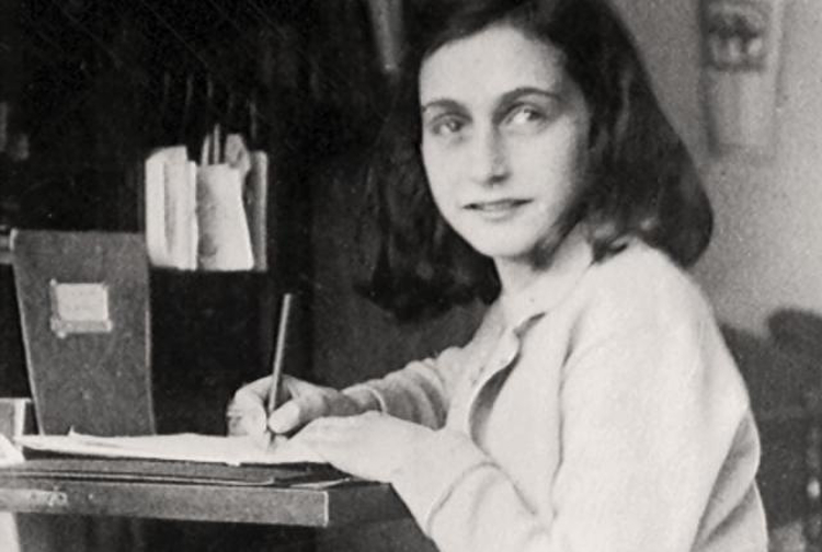 Anne-Frank-writing