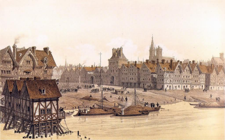 Medieval Paris, much as it would have appeared to Anne Boleyn during her time at the French court