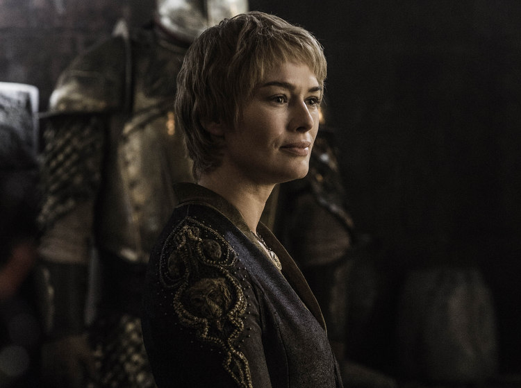 Cersei, looking smug because the whole show centres around her.