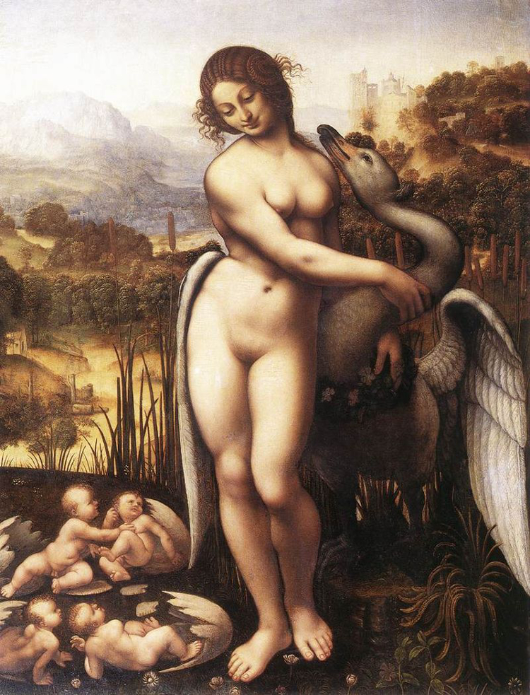 Leda and the Swan, by Cesare da Sesto after Leonardo