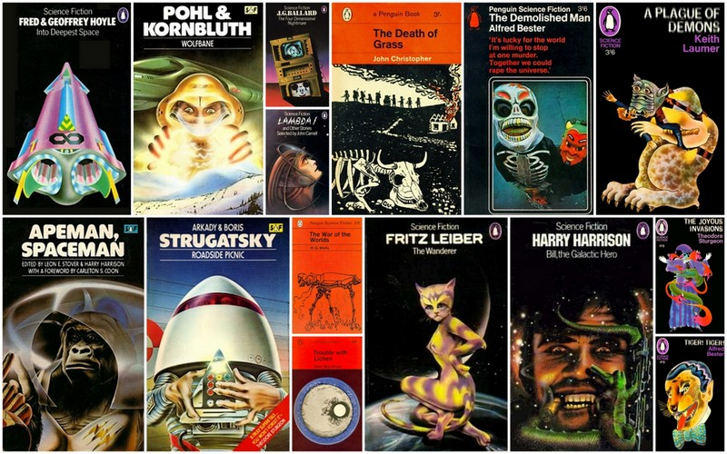 Vintage Penguin Science Fiction Covers