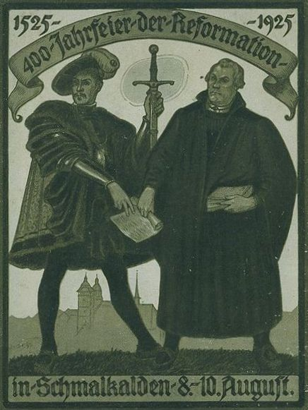 Non-contemporary propaganda poster on the Schmalkaldic League