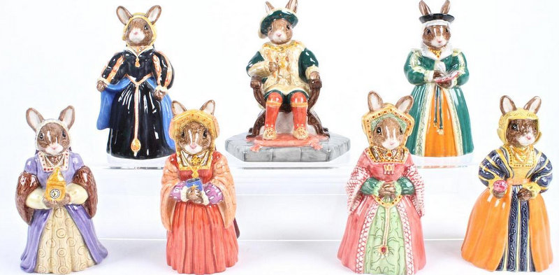 Bunnykins Henry VIII and His Six Wives