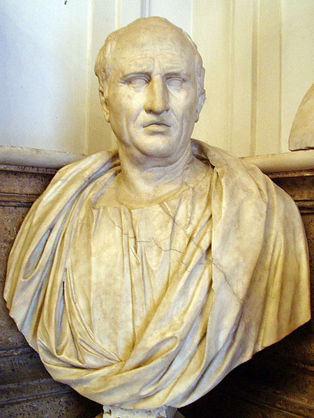 Bust of Cicero in the Capitoline Museum, Rome.