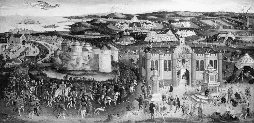 Painting of The Field of Cloth of Gold 1545 © The History Press