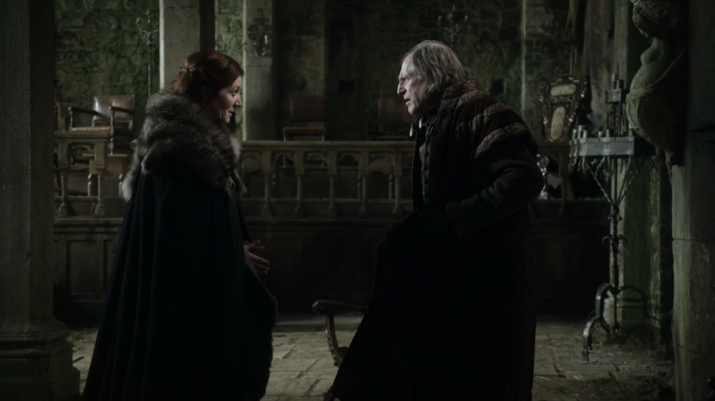 Walder Frey negotiates the fateful marriage pact with Catelyn Stark.