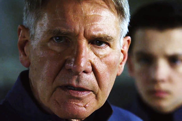 Harrison Ford as Graff in Ender's Game