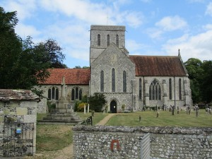 Church of St Mary and St Melor, Amesbury. The abbey Elfrida established was dissolved in 1177.