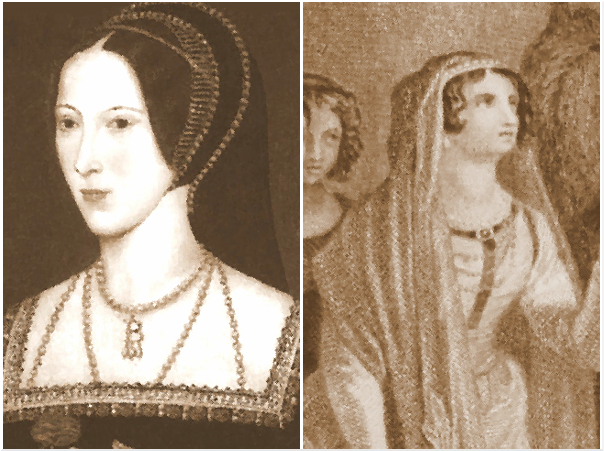 Queen Elfrida and Anne Boleyn